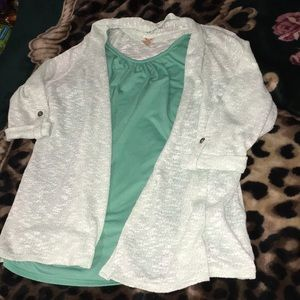 Faded Glory Shirt with Cardigan!
